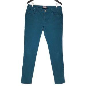 Point Zero Dark Teal Skinny Leg Jeans, 10